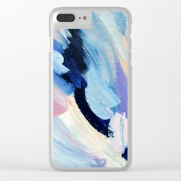 Bibbity Bobbity Blue (Abstract Painting) Clear iPhone Case