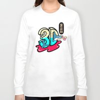 3d Long Sleeve T-shirts featuring ' 3D ' by Philip Morgan