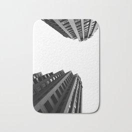Architecture Minimalism Black and White Photography Bath Mat