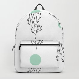 Black brunches & green dots pattern Backpack