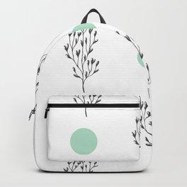Black brunches & green dots pattern Backpack