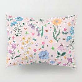 Spring Garden Tossed Pattern Pillow Sham
