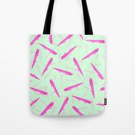 Modern neon pink green girly cute funny alligator pattern Tote Bag