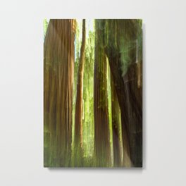 Redwood Abstract Metal Print