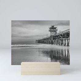 San Clemente Gray Mini Art Print