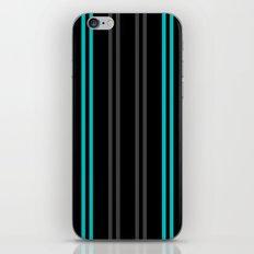 Charcoal Gray/Teal/Black Vertical Stripes iPhone & iPod Skin
