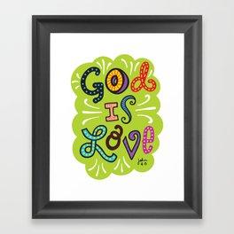 God is Love Color Framed Art Print