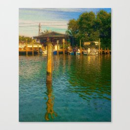Florida Watering Hole Canvas Print