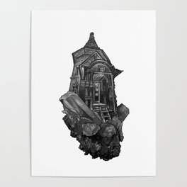 Selenite Lighthouse Poster