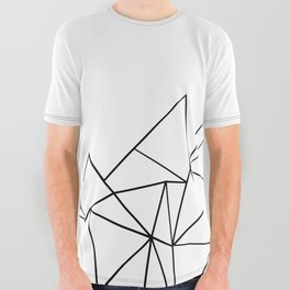 Ab Peaks White All Over Graphic Tee