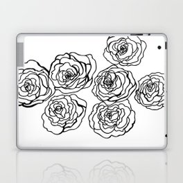 Black & White Roses - Lines Laptop & iPad Skin