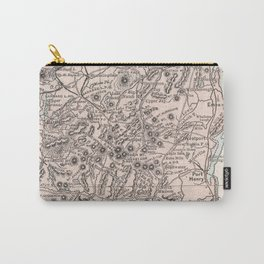 Vintage Map of The Adirondack Mountains (1901) Carry-All Pouch