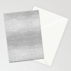 Silver and White Stripes Stationery Cards