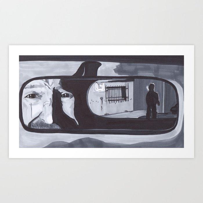 4ca8882be16c Rearview Mirror- Pearl Jam  Breaking Bad Art Print by artsyape ...