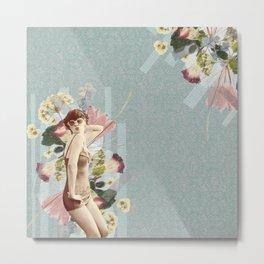 Feminine Collage III Metal Print