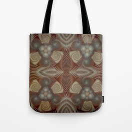 Whirling spirals in earthy early painting style Tote Bag