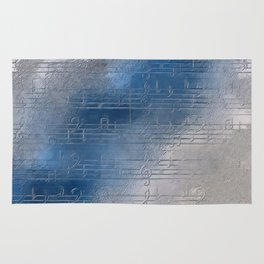 Silver music Rug