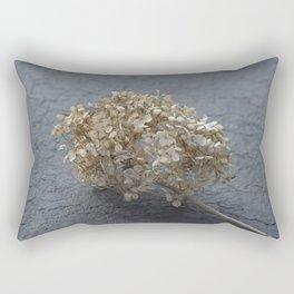 Blossoms on Blacktop Rectangular Pillow