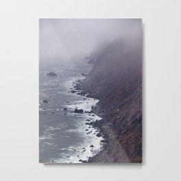 Foggy Beach Metal Print