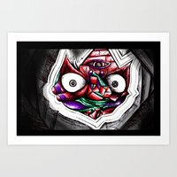Madness Within The Crimson Face! Art Print