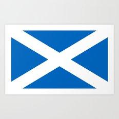Flag of Scotland Art Print