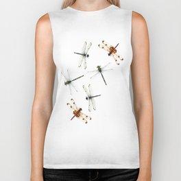 Dragonfly Pattern Biker Tank