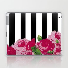 Bold Stripes with Flowers Laptop & iPad Skin