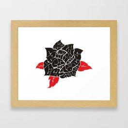Black Roses in my garden Framed Art Print