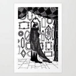 Ash Pale / Snow White Art Print