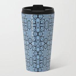 Airy Blue Geometric Travel Mug