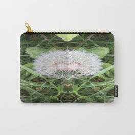Green Bird (with Fascinator) Carry-All Pouch