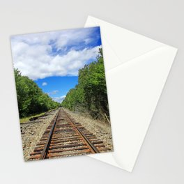 Beautiful Day Train Tracks Stationery Cards