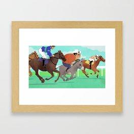 Racing Horses Framed Art Print
