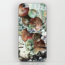 Abstract textured pastel floral still life iPhone Skin
