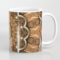 Molten Copper Mandala Coffee Mug