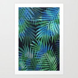 Tropical Memories in Relaxing Palms Art Print