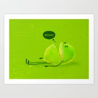 lime green Art Prints featuring Lime by Lime