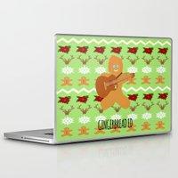 ed sheeran Laptop & iPad Skins featuring Gingerbread Ed II by Laura Maria Designs