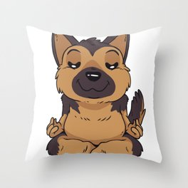 German Sheperd Yoga Throw Pillow