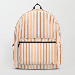 Bright Orange Russet Mattress Ticking Narrow Striped Pattern - Fall Fashion 2018 Backpack