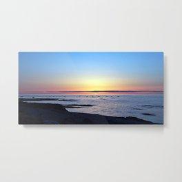 Sun Sets up the River, Across the Sea Metal Print