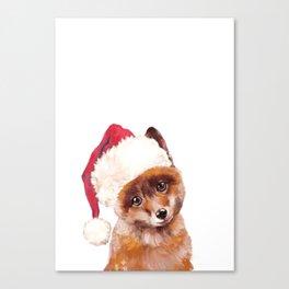 Christmas Baby Fox Canvas Print