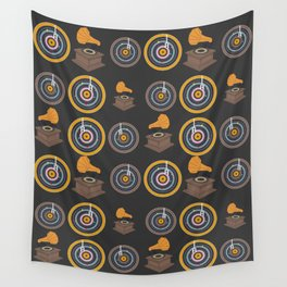 Gramophone and vinyls Wall Tapestry