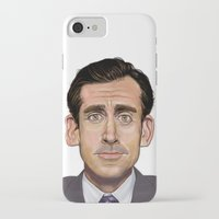 michael scott iPhone & iPod Cases featuring Michael Scott-World's Best Boss by Dylan Holden