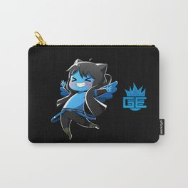Chibi Luc (Expression 2) w/ Black Background Carry-All Pouch