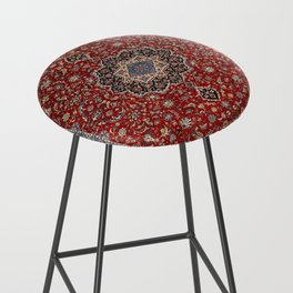 N63 - Red Heritage Oriental Traditional Moroccan Style Artwork Bar Stool