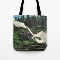 smoking Tote Bags featuring Smoking by odart
