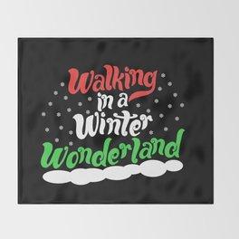 Walking through a Winter Wonderland Throw Blanket