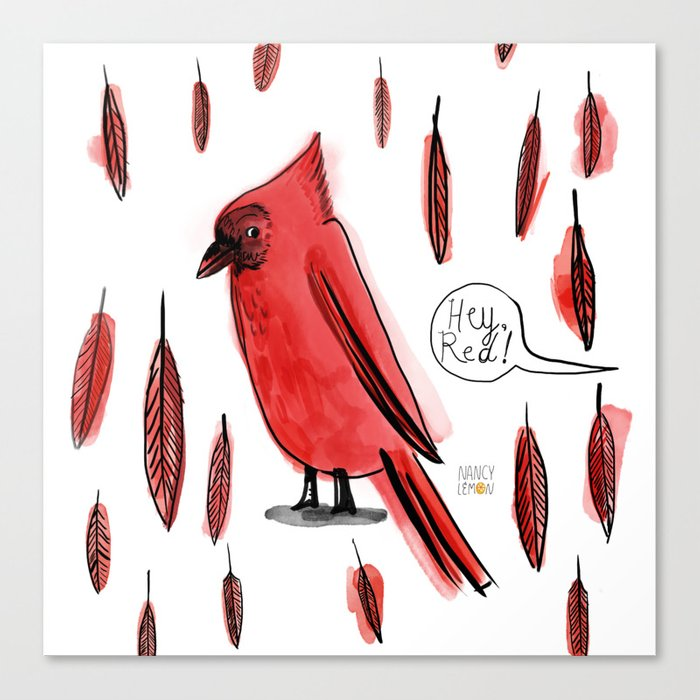 Hey, Red! Canvas Print