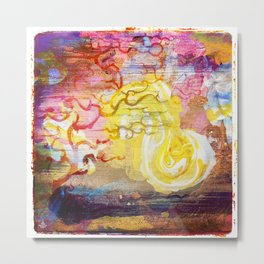 Vegan Eggyolk behind a Tree Metal Print